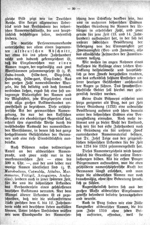 Entstehung der Familiennamen und Geschlechter in Böhmen - 2
