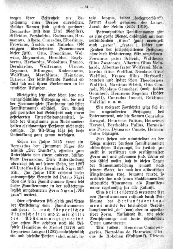 Entstehung der Familiennamen und Geschlechter in Böhmen - 3