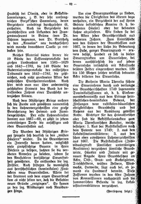 Geschichtlichesquellen der mährischen Heimat- und Familienforschung - 4