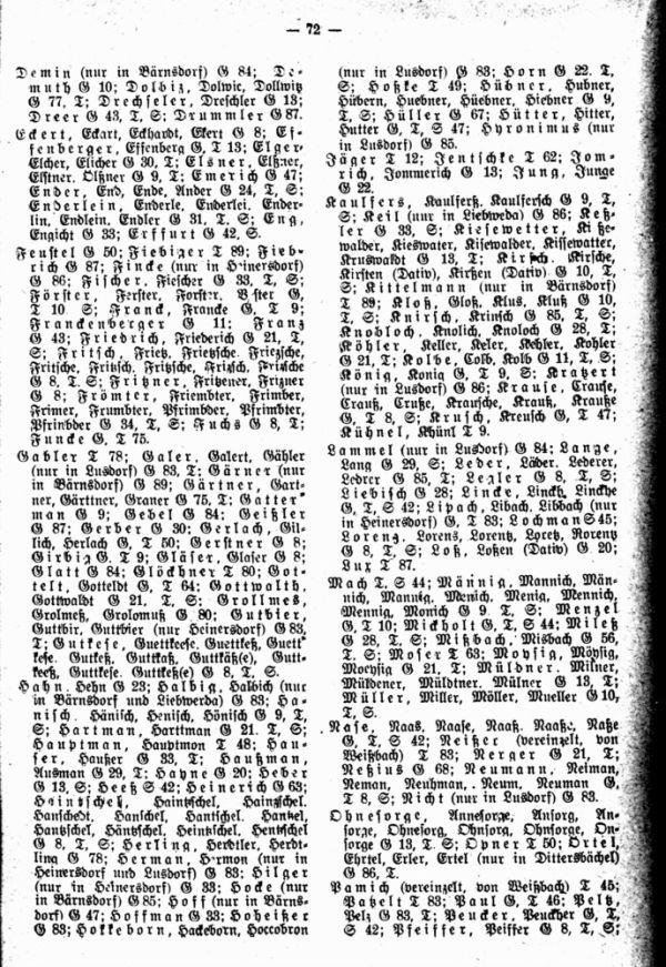 Familiennamen der Getauften, Getrauten und Verstorbenen nach der Neustädter Matrik Nr.0 und der zugehörigen Gleichschrift (1607-1690) - 2