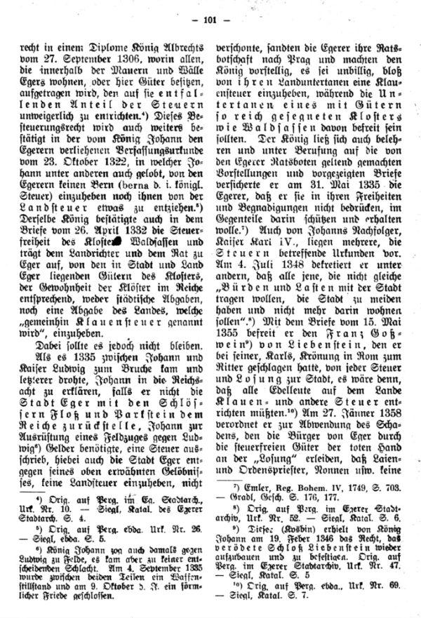 Das Egerer Landsteuerbuch vom Jahre 1392 mit den ältesten Personennamen in den Dörfern des Egerlandes - 2
