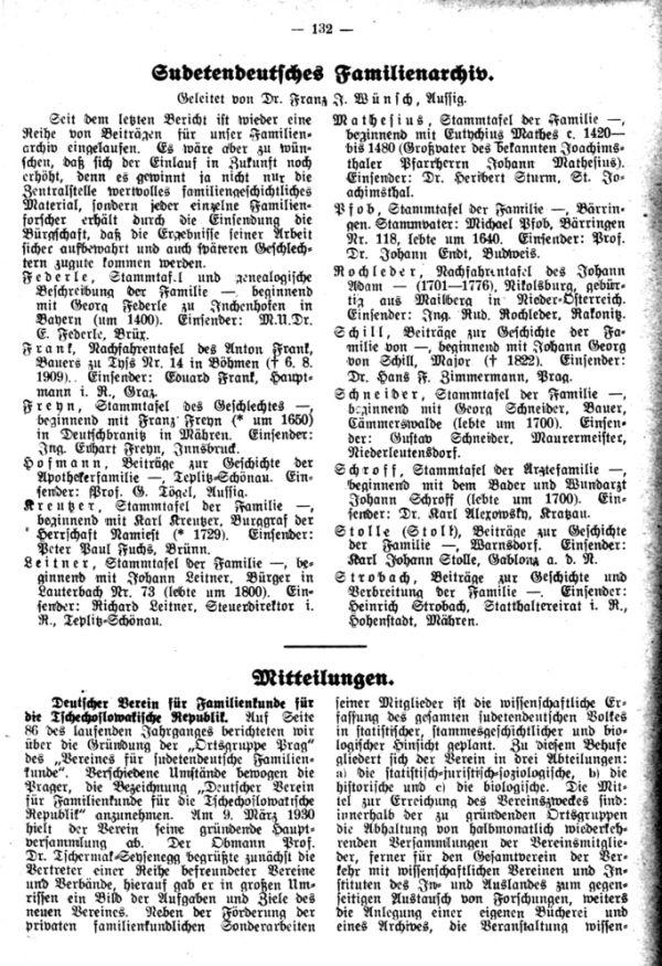 Sudetendeutsche Familienarchiv
