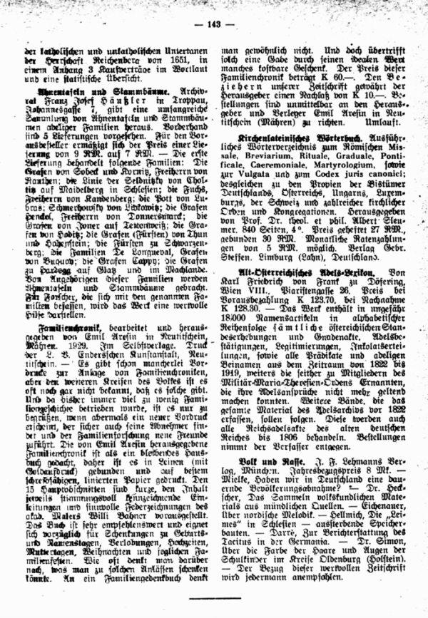 Familienchronik - Ahnentafeln und Stammbäume - Kirchenlateinisches Wörterbuch  - Alt-Österreichisches Adels-Lexikon