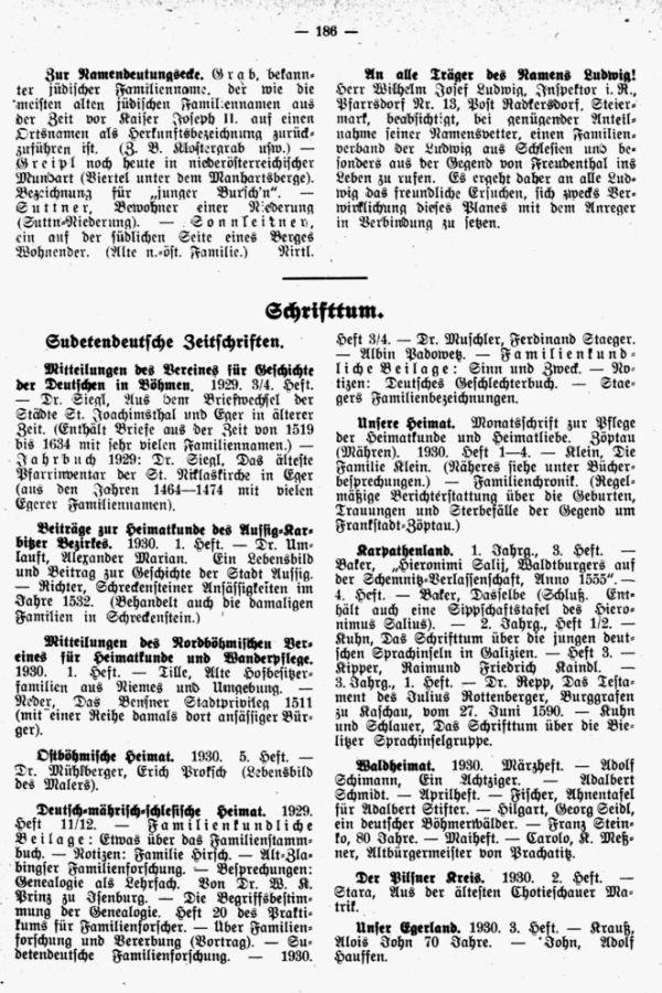 Bemerkung zur Namendeutungsecke - An alle Träger der Namen Ludwig