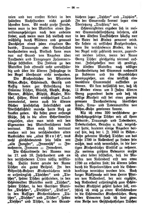 Freuden und Leiden bei familiengeschichtlingen Forschungen - 2
