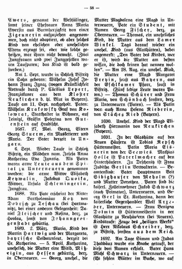 Adelige, Auswärtige und Ausländer im alten Kirchenbuch von Neuern (1654-1706) - 2