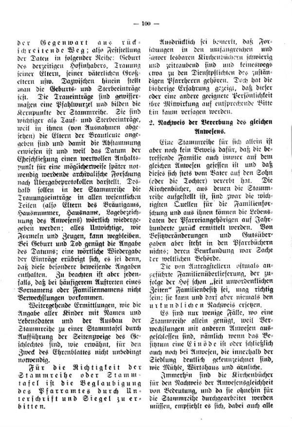 Richtlinien für die Verleihung des Ehrenblattes an alteingessesene Bauernfamilien durch den Bayrischen Landwirtschaftsrat - 2
