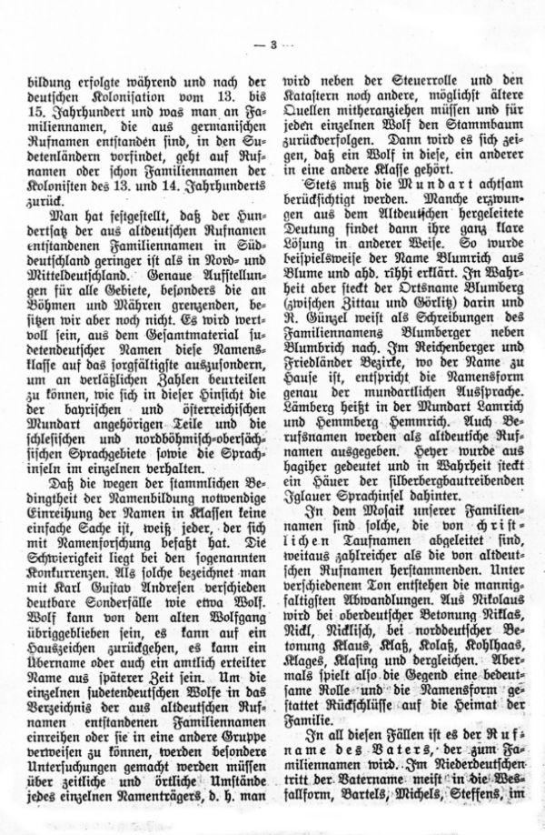 Die deutschen Familiennamen in Böhmen und Mähren - 3