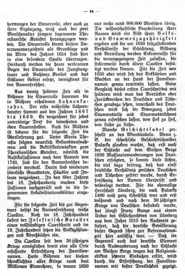 Die deutschen Familiennamen in Böhmen und Mähren - 4