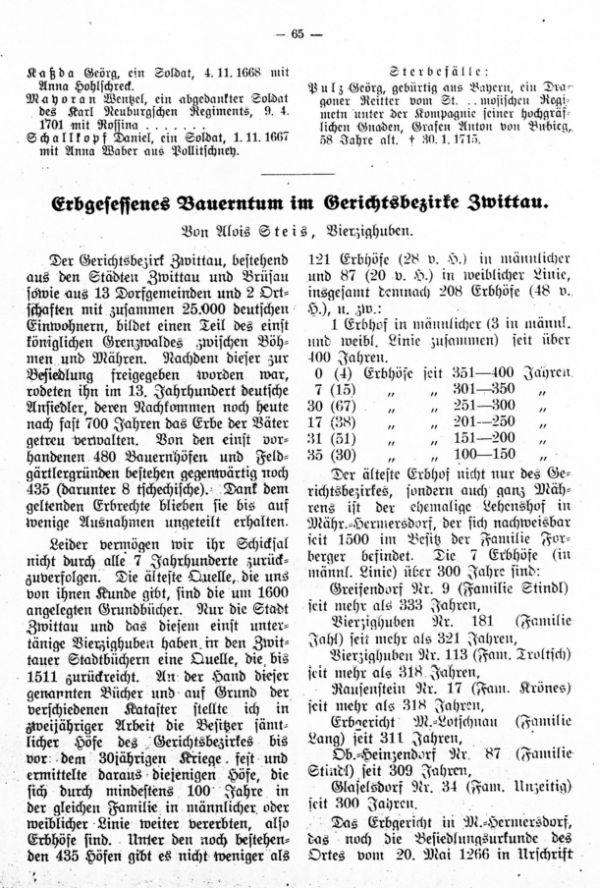 Zufallsfunde in der ältesten Reichenauer Tauf-, Trau- und Sterbematrik (1611-1718) - 2
