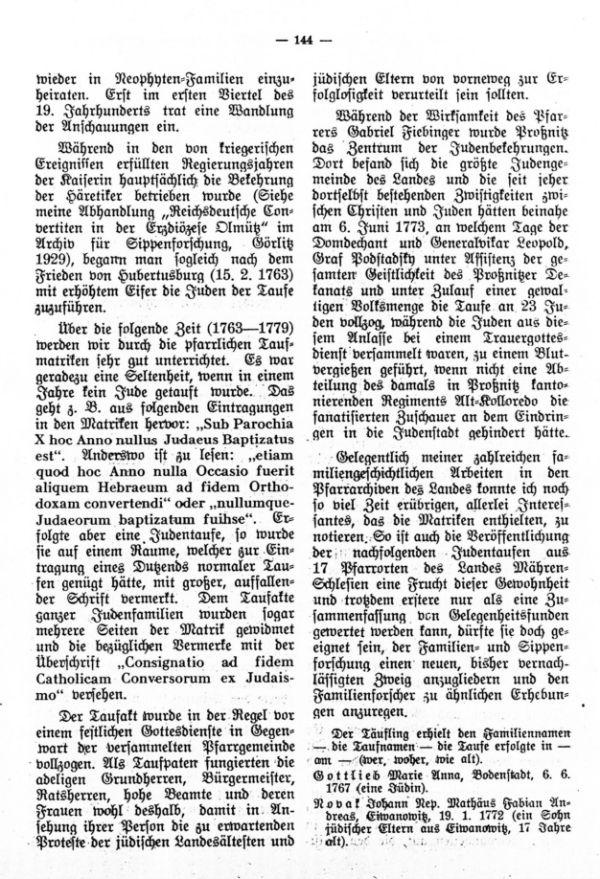 Judentaufen in Mähren-Schlesien während der letzten Regierungsjahre Maria Theresias - 3
