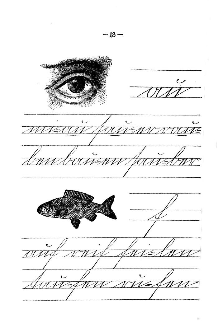 Deutsche Fibel -au / f (Schreibschrift)