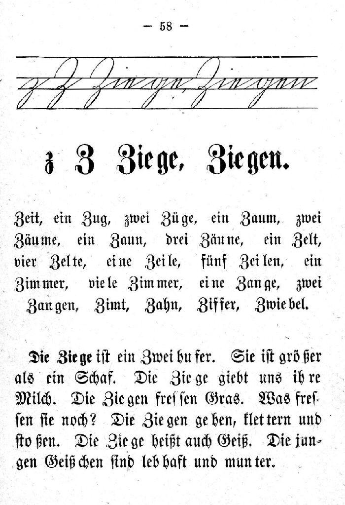Deutsche Fibel -Z (Schreibschrift /Druckschrift)