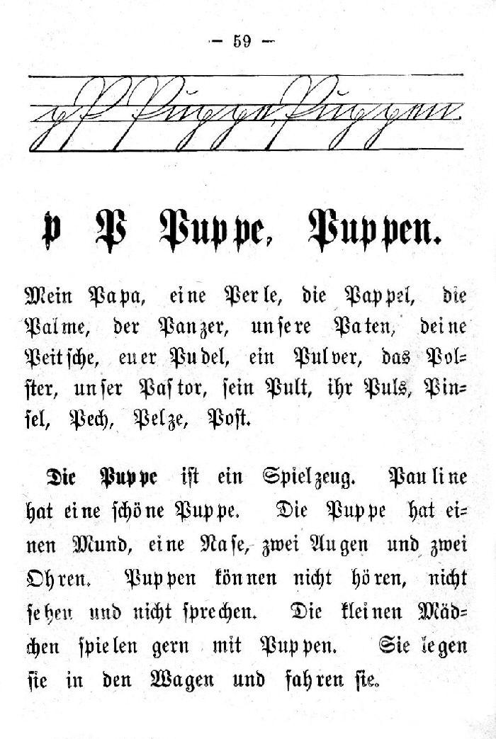 Deutsche Fibel -P (Schreibschrift /Druckschrift)