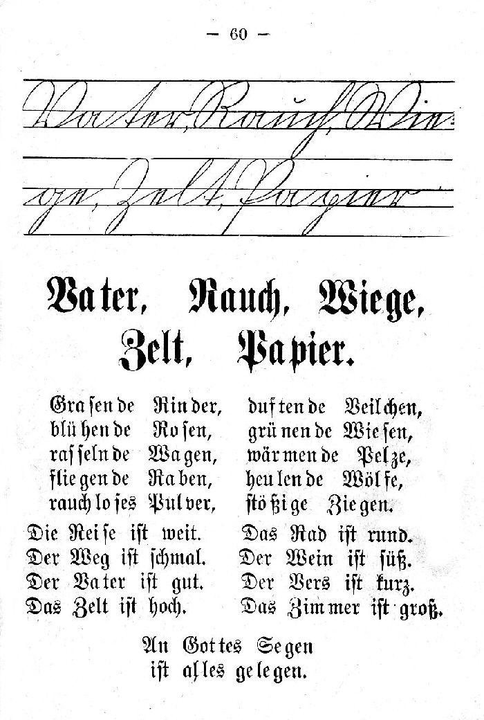 Deutsche Fibel -V - R - W -Z - P (Schreibschrift /Druckschrift)