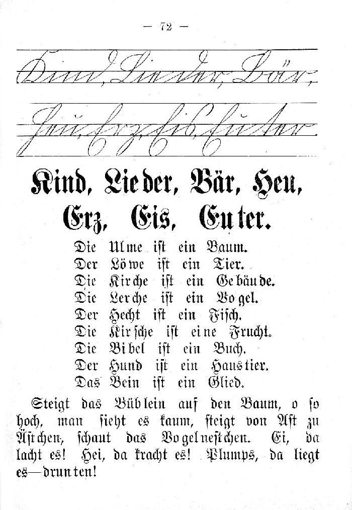 Deutsche Fibel -K - L - B -H - E  (Schreibschrift /Druckschrift)