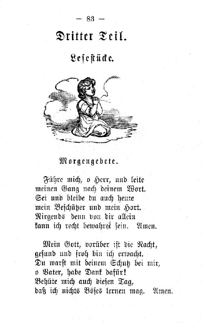 Deutsche Fibel -Morgengebete