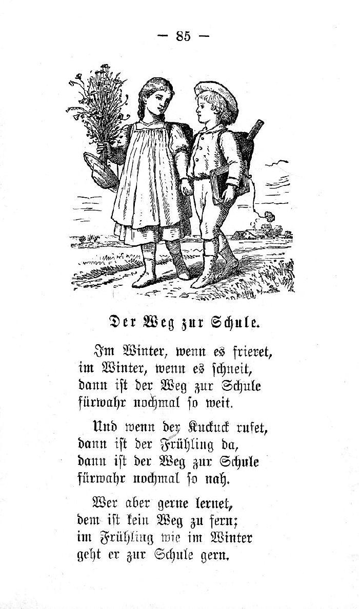 Deutsche Fibel -Der Weg zur Schule