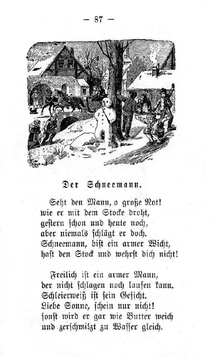 Deutsche Fibel -Der Schneemann