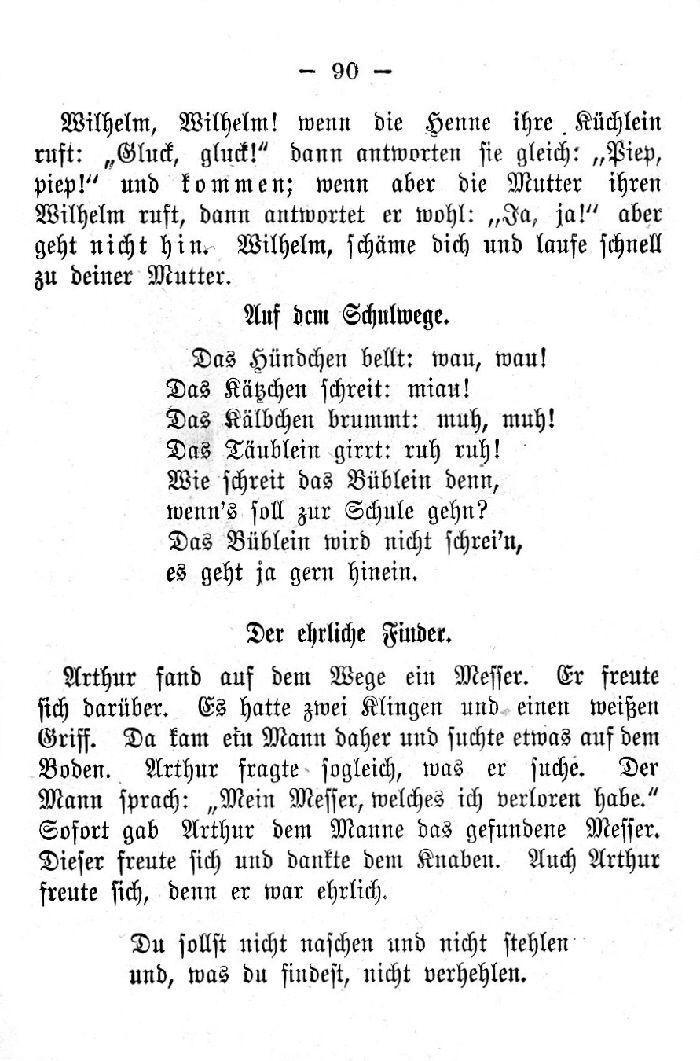 Deutsche Fibel -Auf dem Schulweg - Der ehrliche Finder