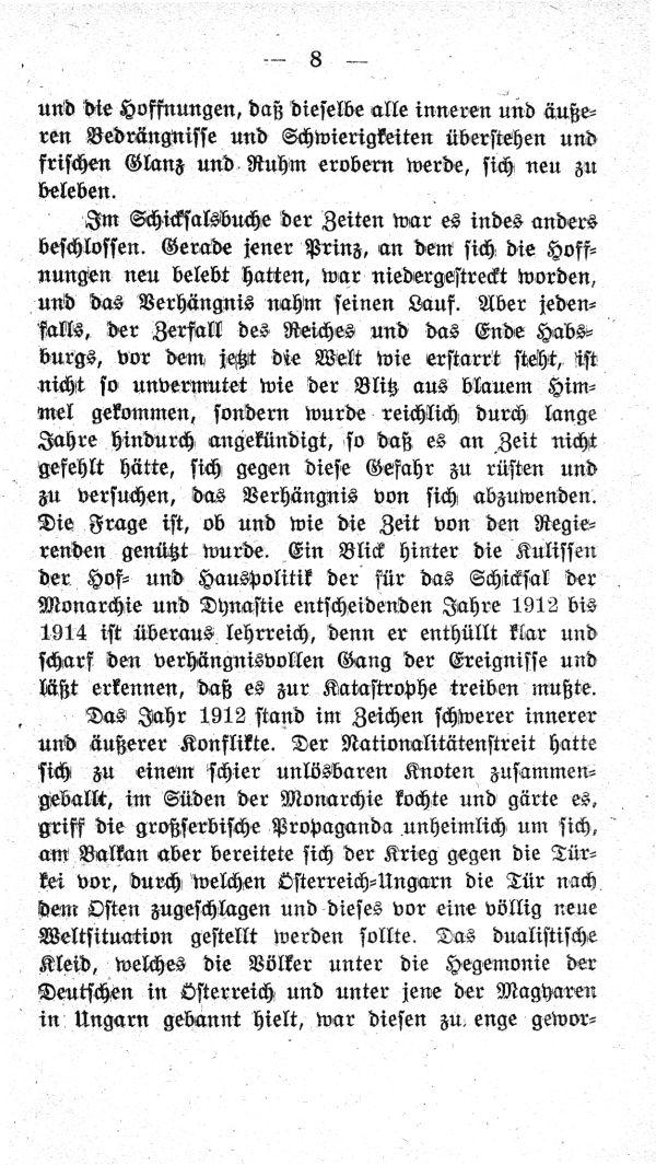 I.  Kapitel: Hinter den Kulissen der Hof- und Hauspolitik von 1912-1914